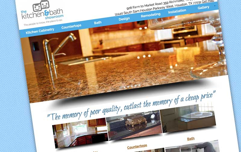 The Kitchen  Bath Showroom Web Design Portfolio Houston Construction Companies
